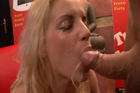 Blonde Slut Facial