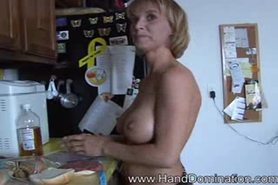 Blond MILF slays monster cock