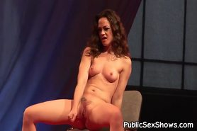 Lovely stripper playing with her snatch