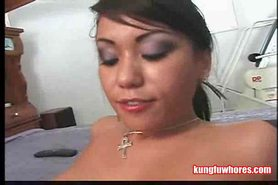 Asian Slut Rides Rough On Cock