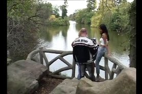 HOT GIRL n85 blonde teen in a parc