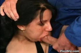 Piss; Some crazy slut enjoys dick and hot piss