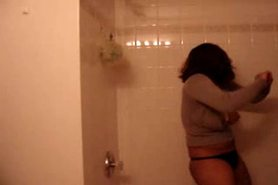 Hot Indian Teen Does Strip and dance in Shower