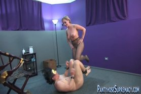 Sadistic Mistresses in pantyhose dominate in many ways view on tnaflix.com tube online.