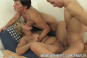 Young Guy Receives Real Thorough Sex Education From Two Moms view on tnaflix.com tube online.