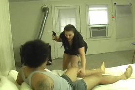 Chubby fake police woman seduces criminal view on tnaflix.com tube online.