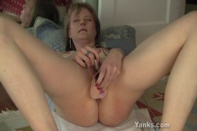 Petite Hot MILF with small tits dildo fucks herself view on tnaflix.com tube online.