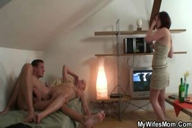 Hey son-in-law, lets fuck while your wife away! view on tnaflix.com tube online.