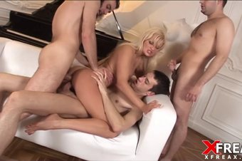 Gang Bang for Russian Girl