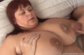 Beautiful busty mature BBW in sexy stockings view on tnaflix.com tube online.