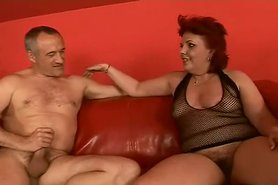Busty redhead Hairy Granny view on tnaflix.com tube online.