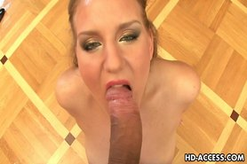 Sexy blond slut giving hot pov blowjob here