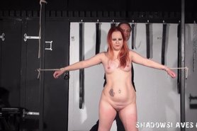 Redhead amateur slaves whipping