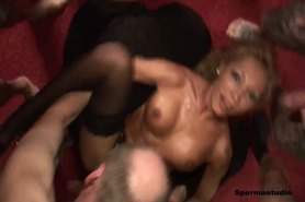 Horny Ginger gang banged rough - PART 2