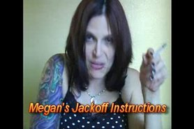 Jackoff instructions with a long tongue