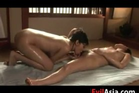 Asian Lesbian Giving A Massage