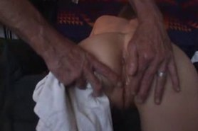 Short haired wife gets anal banged
