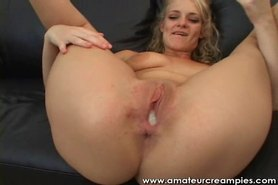 Amateur Babe Fucked by Horny Partner Creampie Her Hot Pussy