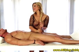 Busty sex therapist tugs cock