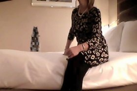 Hotel room sex with MILF