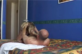 blonde Czech slut fucked in hotel by French guy, but...