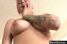 Shy Pink Haired Emo's First Porno