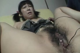 Kinky chick gets it from behind