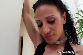 Attractive white girl is fucked by black dick