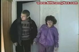 Mature Granny and her BF Fucking hard