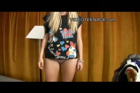 18yo blond teen first video casting