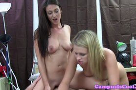 Real sorority teens in menage a trois