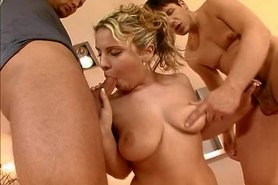 Big tits blonde double-penetrated