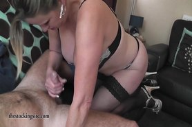 British Milf gets spunked over