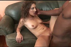 Horny Slut Gets BBC On Couch