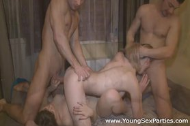 Testing a bed with foursome sex