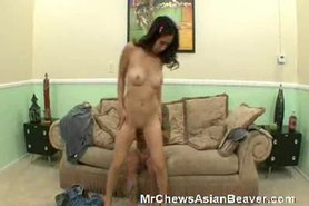 Asian Bitch Riding On A Hard Meat