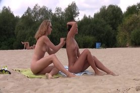 Everyone is excited when this nudist teen shows up