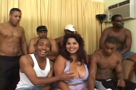 big titted latina gang bang