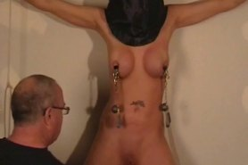 Hooded amateur bdsm