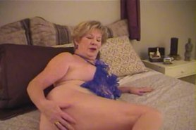Mature English blonde babe in stockings upskirt tease view on tnaflix.com tube online.