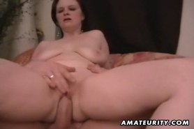 Chubby amateur wife homemade fucking action