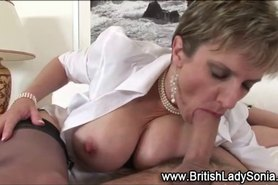 Stockinged mature brit Gill Ellis Young
