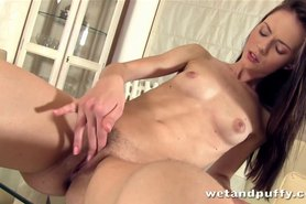 Christel A uses her fingers to warm up her pussy