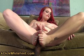 Fucked feet get cummed on