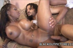Jade Stone - Big Tits Ebony Babe Hammered By Fat Black Cock