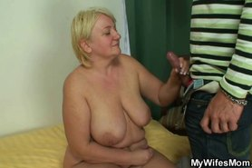 Masturbating mature gets busted and screwed
