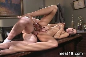 Sexy chick gets rammed really hard