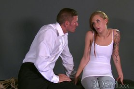 Innocent teen sub gets shock of her life from strict Master
