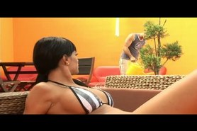 Black Angelica an outdoor whore