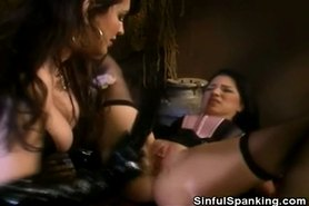 Sweeties In Latex Pussy And Ass Spanking